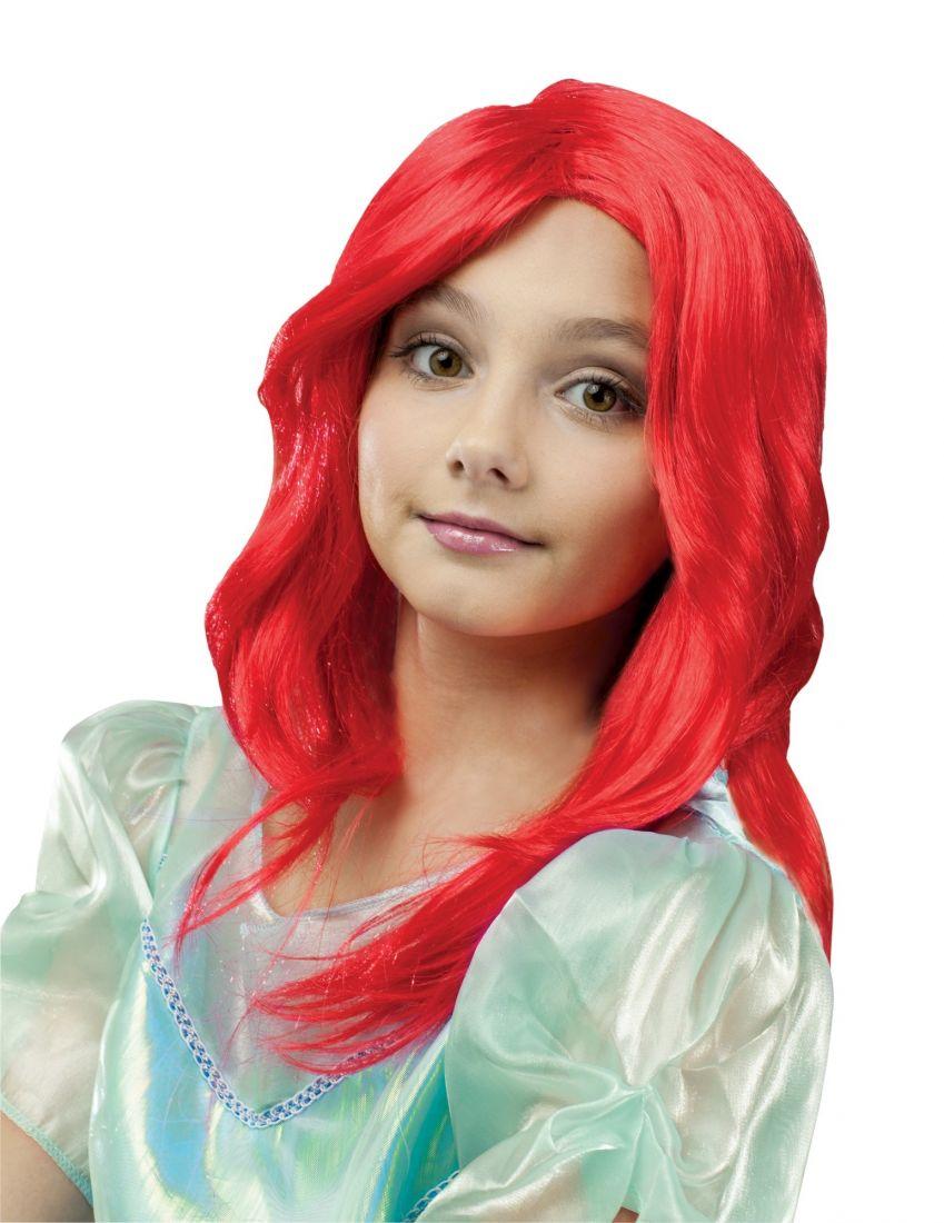 Красный детский парик