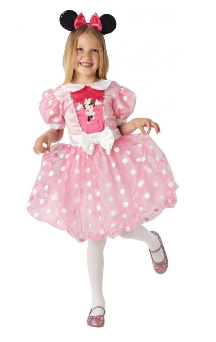 Розовое платье Минни Маус