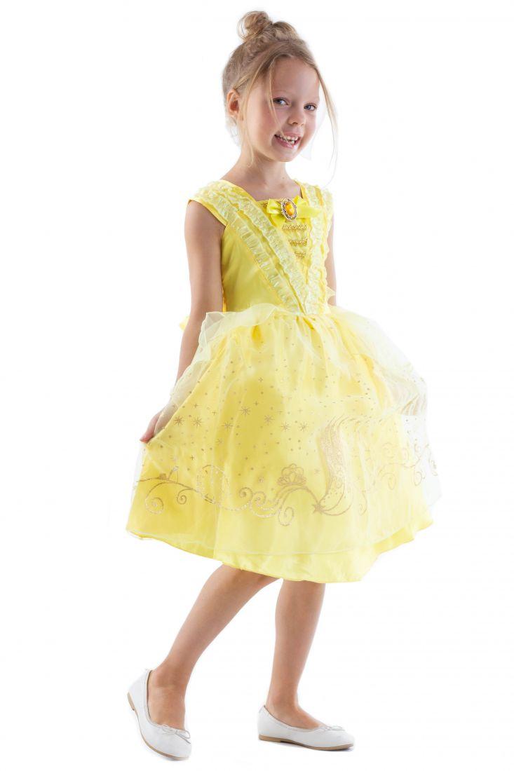 Платье принцессы Бэлль для девочки