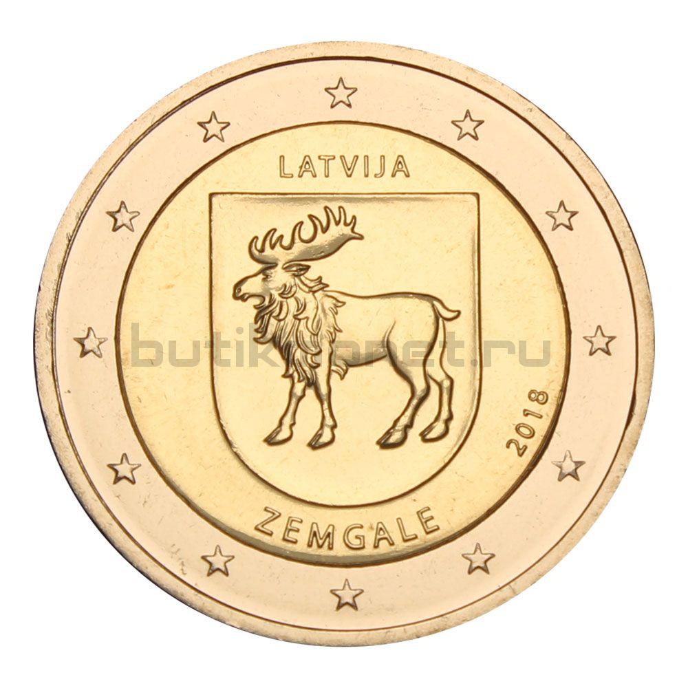 2 евро 2018 Латвия Исторические области Латвии - Земгале