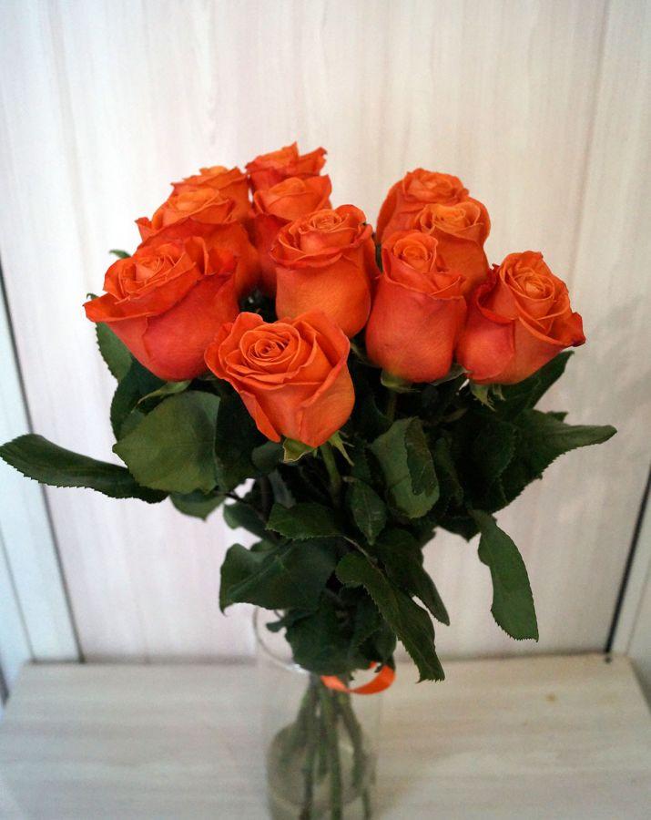 11 роз - Оранж краш (60 см)