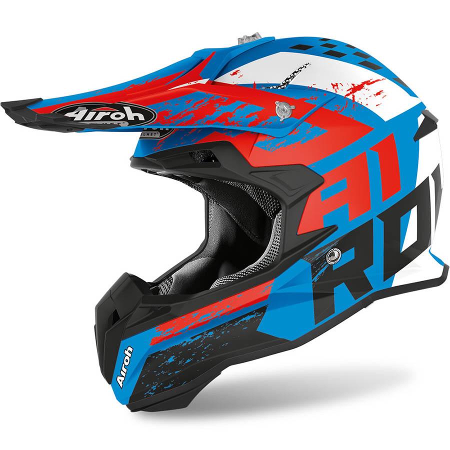 Airoh Terminator Open Vision Hanger Azure Matt шлем внедорожный