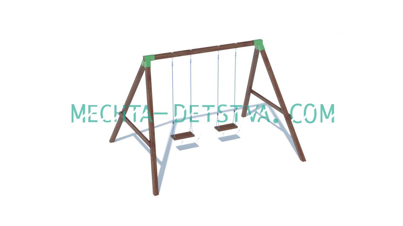 Качели с сидениями на канатах
