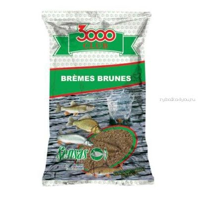 Прикормка Sensas 3000 Club Bremes brune  (Лещ коричн.) 1кг. (11282)