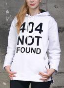 свободная толстовка с надписью - 404 NOT FOUND
