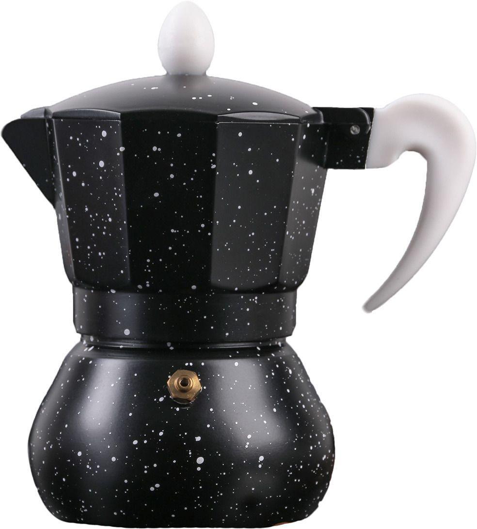 Кофеварка гейзерная Космос, на 3 чашки, алюминий, цвет чёрный
