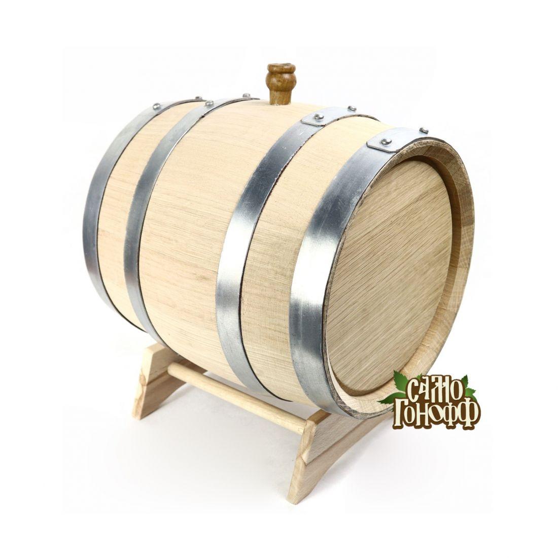 Бочка из колотого кавказского дуба терруарной сушки, 10 литров