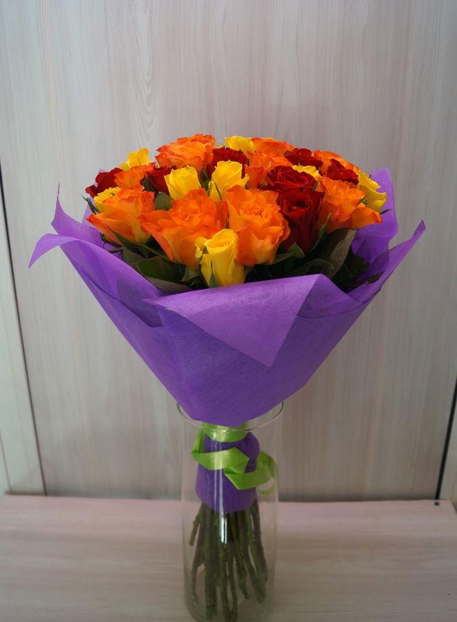 27 роз - Кения микс (40 см)