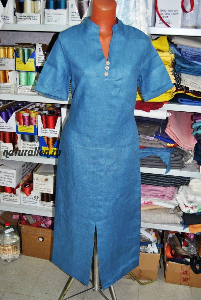 Льняное платье в пол арт 74