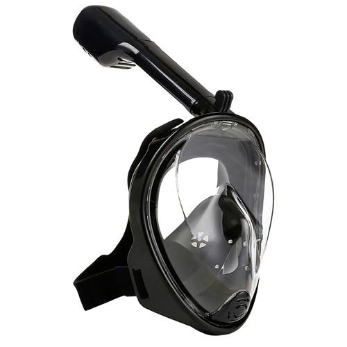 Маска для снорклинга с креплением для экшн-камеры: цвет - черный, размер - S/M.