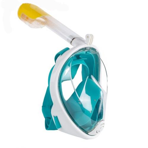 Маска для снорклинга с креплением для экшн-камеры: цвет - зелёный, размер - L/XL.
