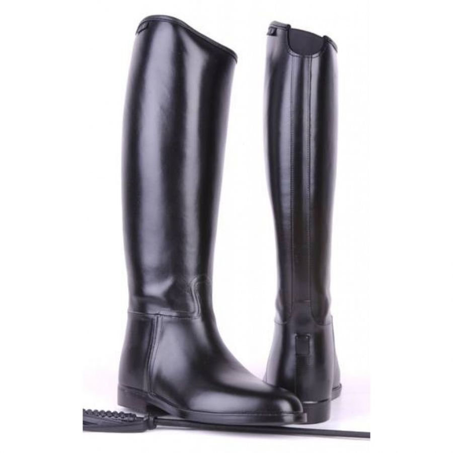 Сапоги резиновые для верховой езды -Damen-  Короткое и широкое голенище с эластичной вставкой. HKM