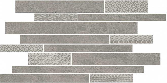 SBM010/SG4584   Декор Ламелла серый мозаичный