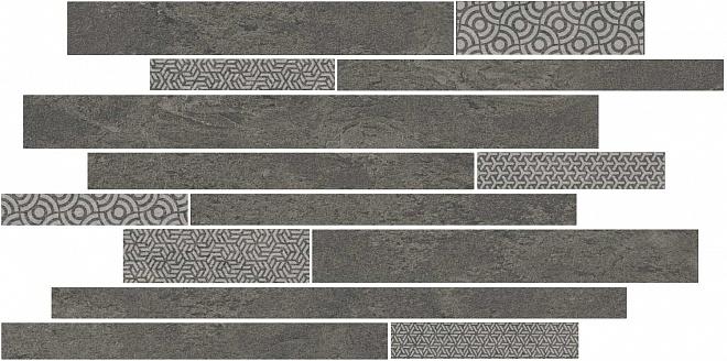 SBM011/SG4585   Декор Ламелла серый темный мозаичный