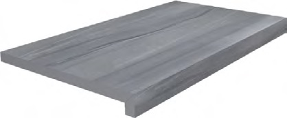 DL600400R20/GLF | Ступень клеёная тип L Роверелла серый
