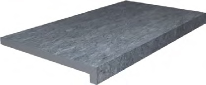 DL600600R20/GLF | Ступень клеёная тип L Роверелла серый тёмный