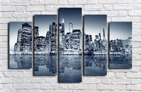 Модульная картина город 60
