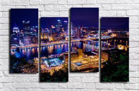 Модульная картина город 72