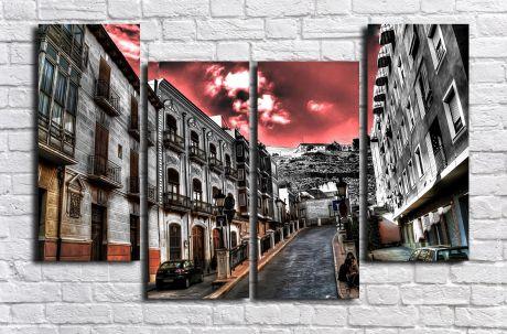 Модульная картина город 73