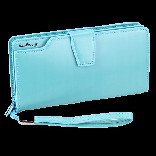 Кошелёк Woman Baellerry Wallet Pu Clutch Bag. Цвет: голубой.