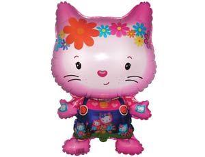 Шар ФИГУРА/11 Hello Kitty с друзьями розовый/FM 88*52 см