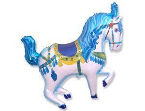 Шар ФИГУРА/11 Лошадь цирковая голубая/FM 107*80 см
