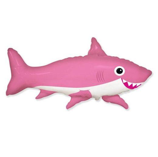 Шар ФИГУРА/11  Акула веселая розовая /FM 75*105 см