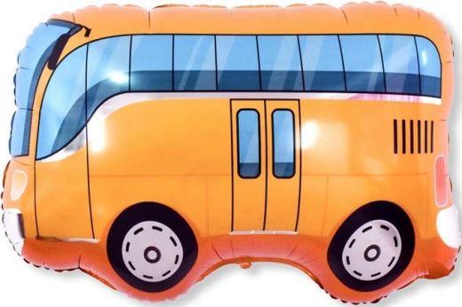 """Шар ФИГУРА/34"""" Автобус оранжевый 86 см"""
