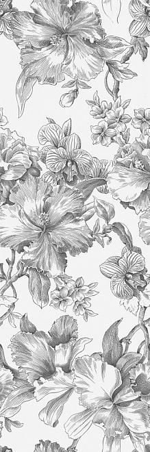 14018R/3F   Декор Монфорте Цветы обрезной