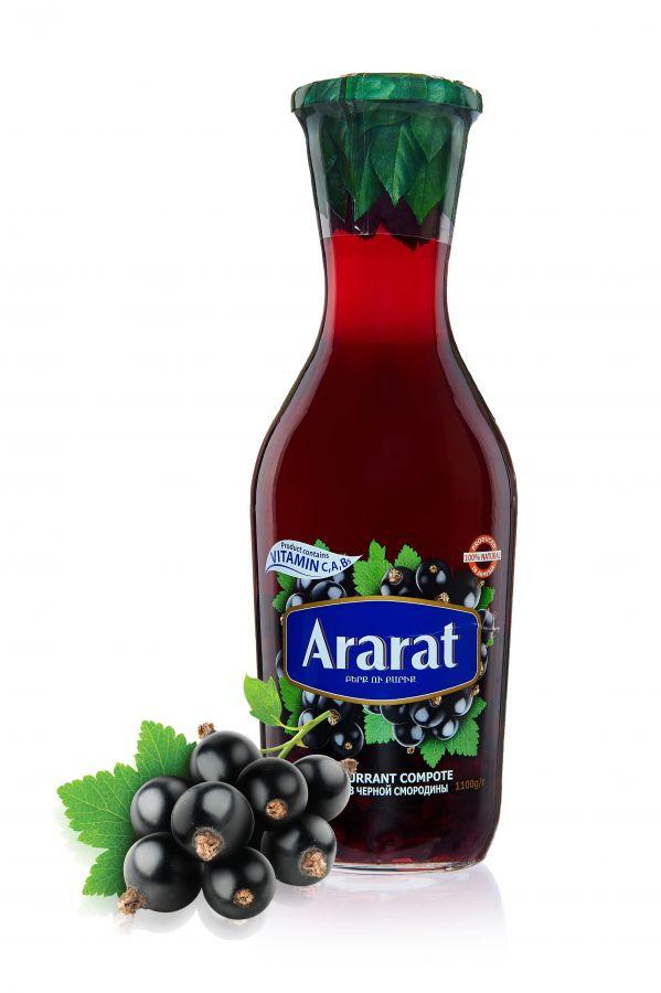 """Компот из черной смородины """"ARARAT"""" 1,0л ст/б"""