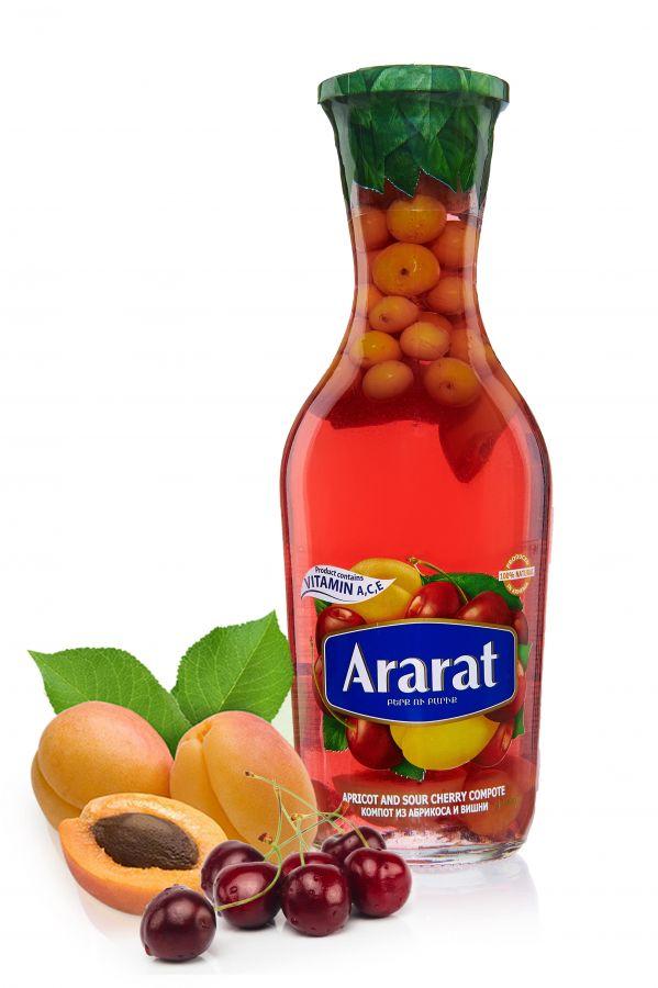 "Компот Абрикосово-вишневый ""ARARAT"" 1,0л ст/б"