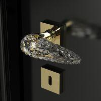 Ручка Glass Design Ice. латунь полированная+прозрачный кристалл