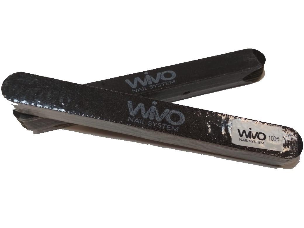Сменные файлы-пилки WIVO на липкой основе 100 грит  (Чёрный, Корея , 180х20мм., 25 шт.)