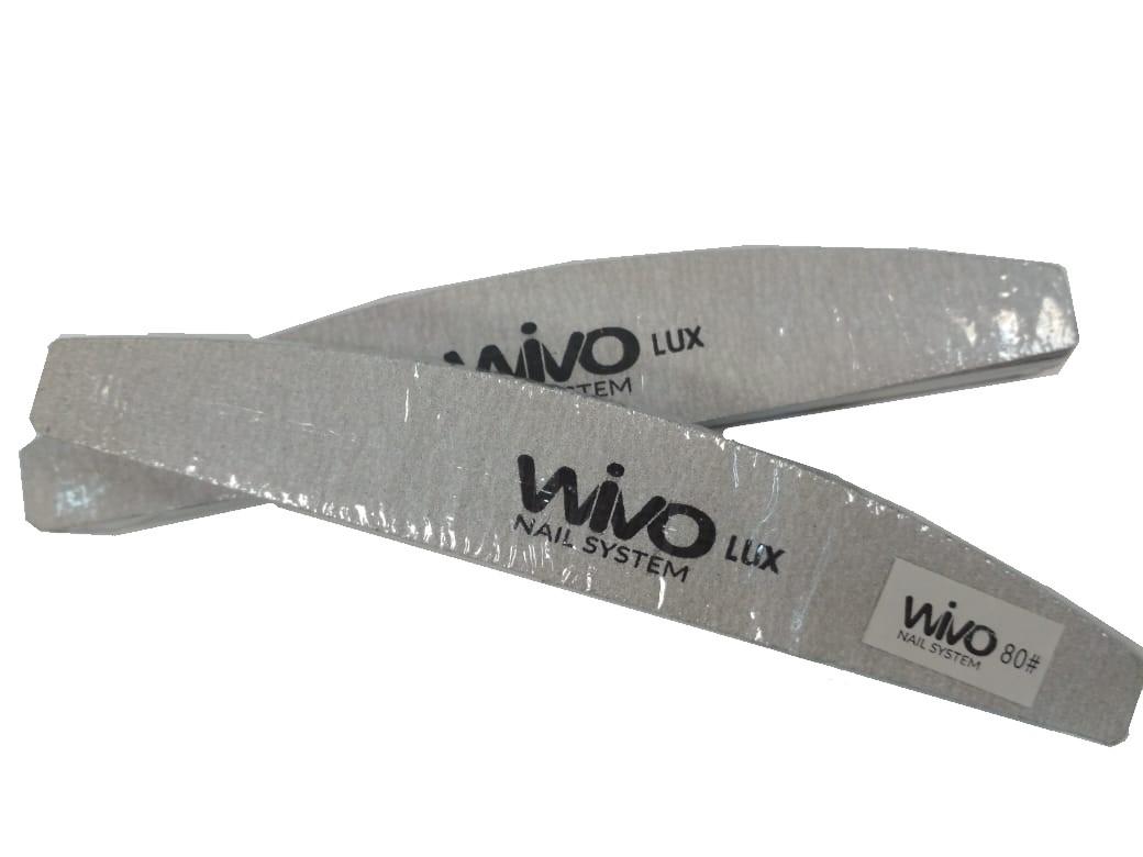 Сменные файлы-пилки WIVO на липкой основе ЛУНА 080 грит  (Зебра, Япония , 180х28мм., 25 шт.)