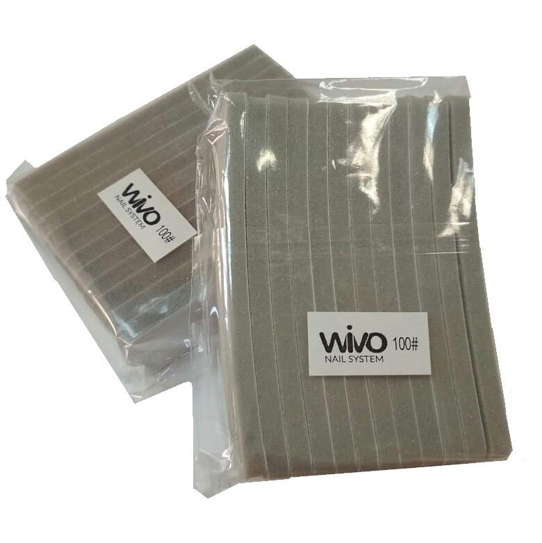Сменные файлы-бафы WIVO на липкой основе 100 грит  ( 90х25мм., 12 шт.)