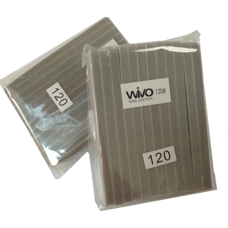 Сменные файлы-бафы WIVO на липкой основе 120 грит  ( 90х25мм., 12 шт.)
