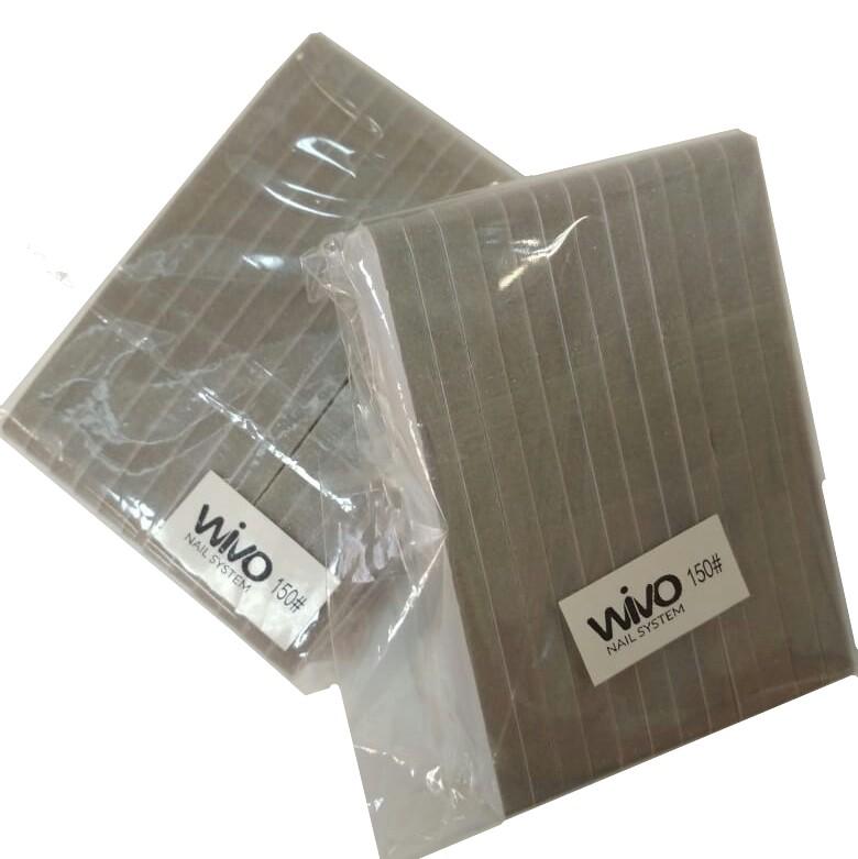 Сменные файлы-бафы WIVO на липкой основе 150 грит  ( 90х25мм., 12 шт.)