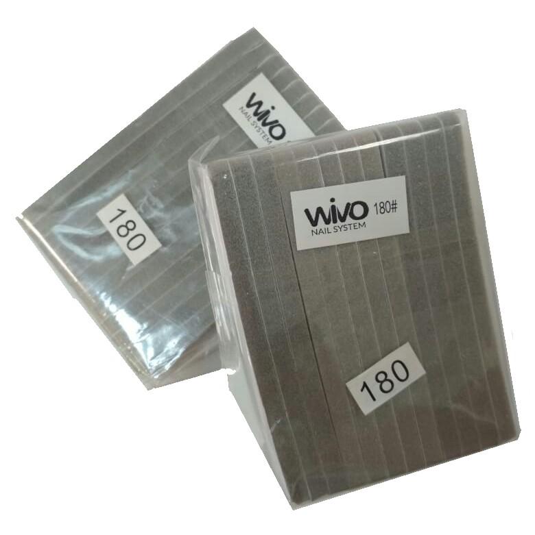Сменные файлы-бафы WIVO на липкой основе 180 грит  ( 90х25мм., 12 шт.)