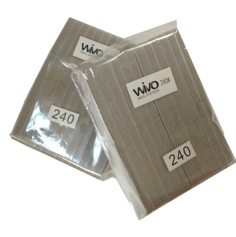 Сменные файлы-бафы WIVO на липкой основе 240 грит  ( 90х25мм., 12 шт.)