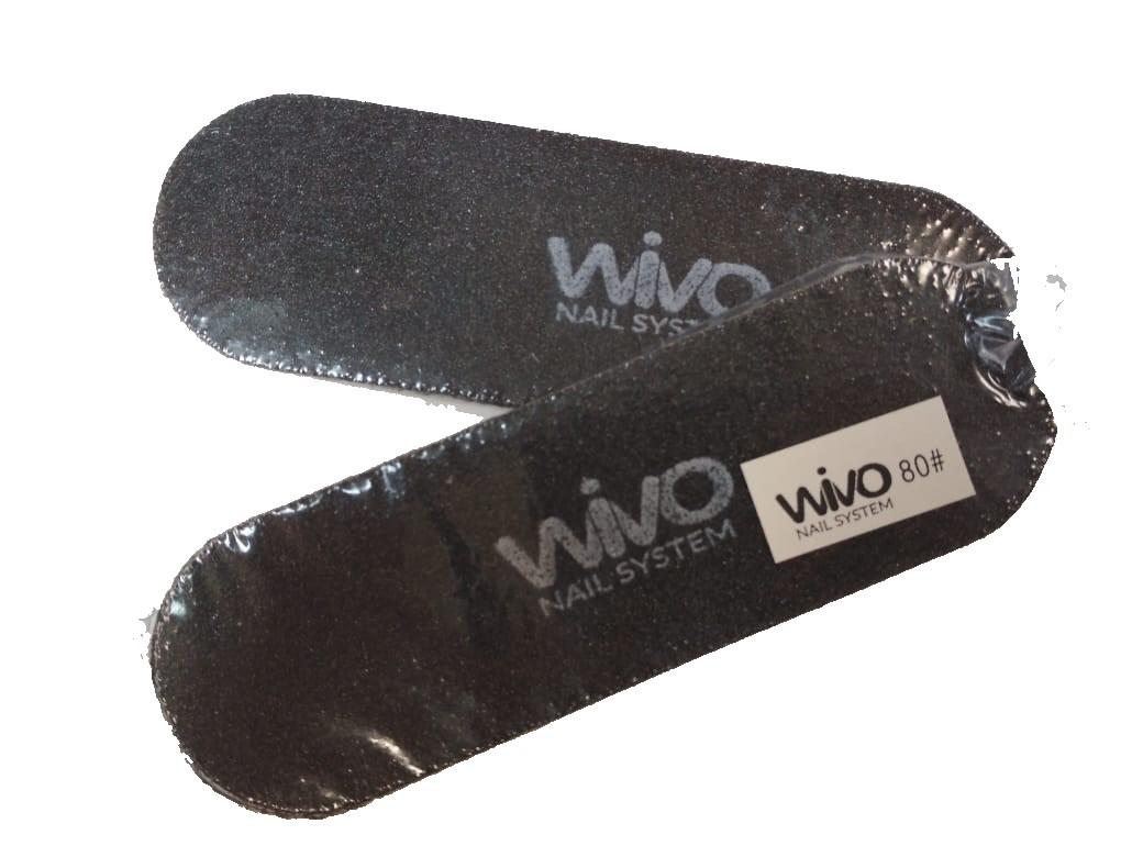 Сменные файлы для педикюра WIVO на липкой основе 080 грит  (Чёрный, Корея , 133х42мм., 10 шт.)