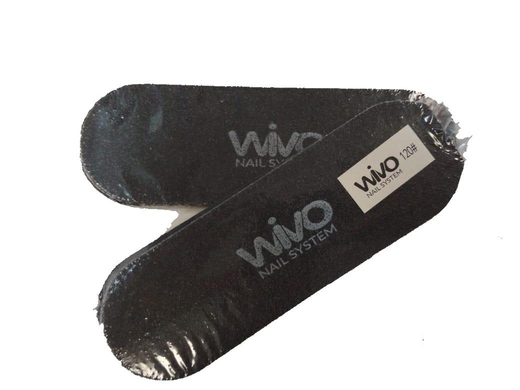Сменные файлы для педикюра WIVO на липкой основе 120 грит  (Чёрный, Корея , 133х42мм., 10 шт.)