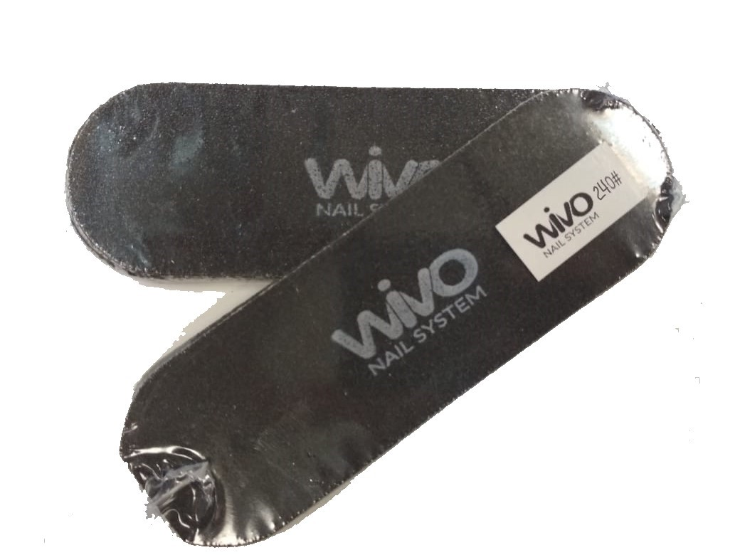 Сменные файлы для педикюра WIVO на липкой основе 240 грит  (Чёрный, Корея , 133х42мм., 10 шт.)