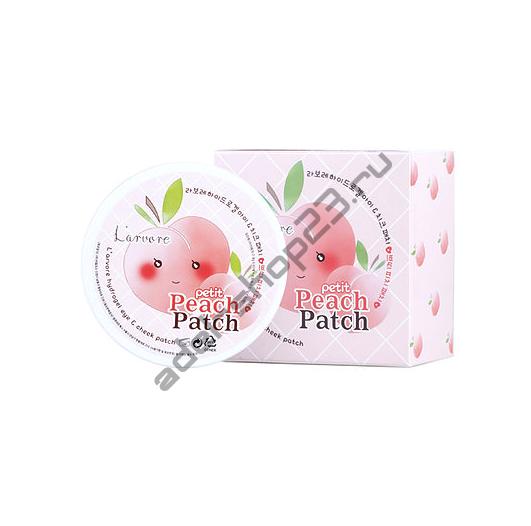 L'arvore - Гидрогелевые патчи для лица Hydrogel Eye & Cheeck Petit Peach Patch