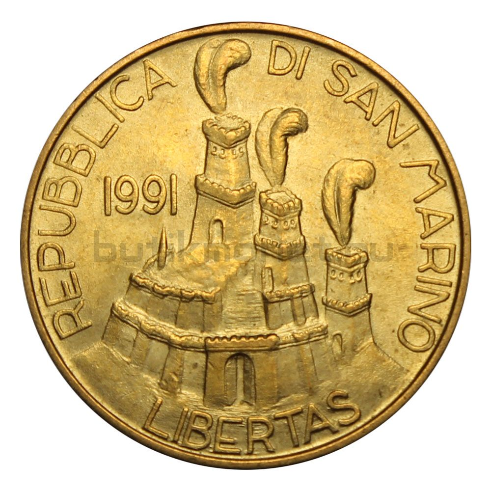 200 лир 1991 Сан-Марино