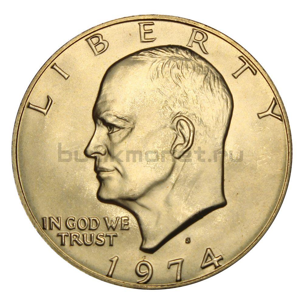 1 доллар 1974 США Серебряный доллар Эйзенхауэра UNC