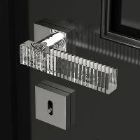 Ручка Glass Design Kos. хром полированный/прозрачный кристалл