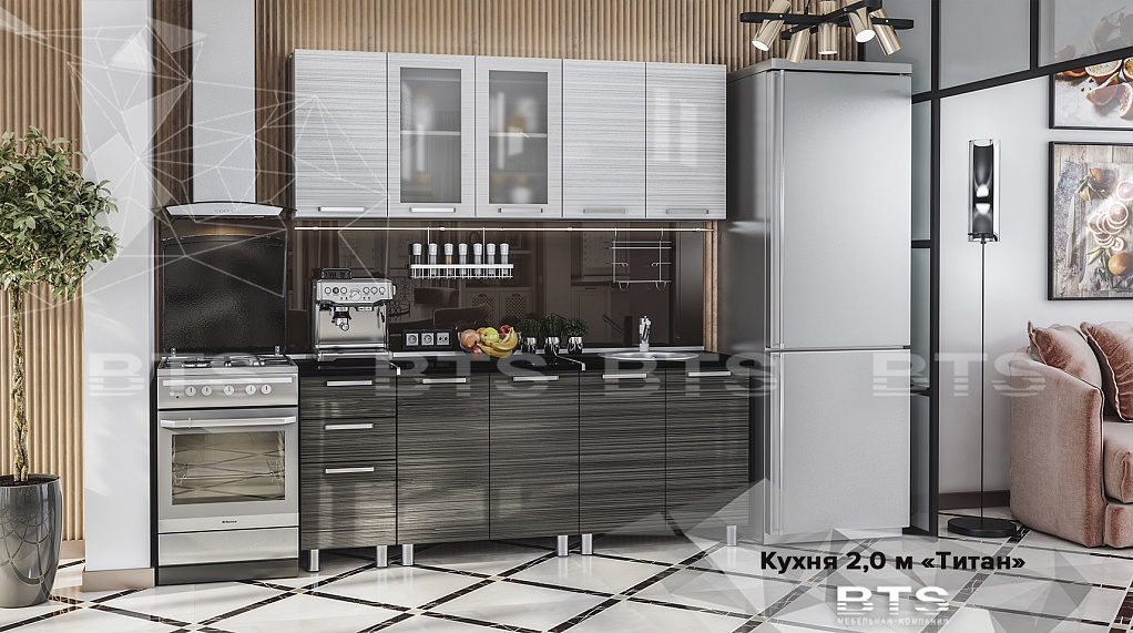 Кухня Титан 2,0 м МДФ