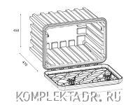 Схема ящика для инструментов DAKEN 81204
