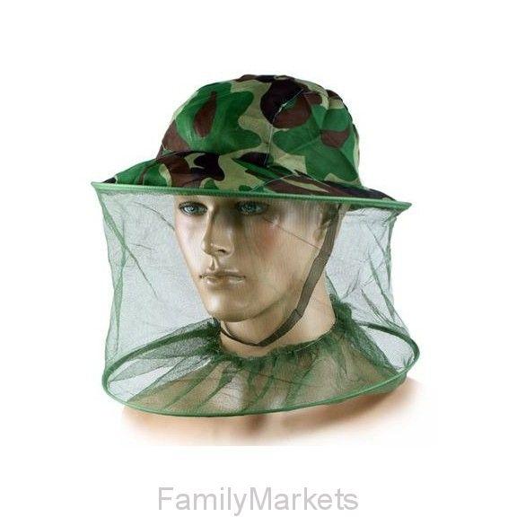 Антимоскитная камуфляжная шляпа