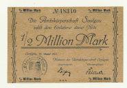Германия Saulgau 1/2 миллиона марок 1923 год aUNC/ПРЕСС. Редкая банкнота.